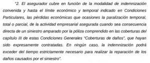 Fragmento sentencia sobre demanda de indemnización por covid